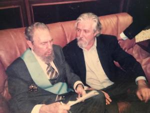 Fidel castro e Davide Bassan
