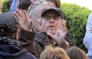 Ron Howard a Firenze durante le riprese di Inferno