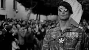 """Jean Martin nel ruolo del col Mathieu nel film """"La Battaglia di Algeri"""""""