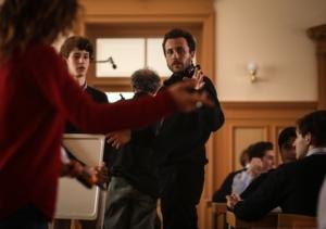 Andrea De Sica a destra e Vincenzo Crea sul set del film