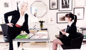 "Meryl Streep e Anne Hathaway in ""Il Divaolo Veste Prada"""