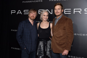 Photo by Rob Latour Morten Tyldum, Jennifer Lawrence and Chris Pratt Sony Pictures presentation at CinemaCon, Las Vegas, America - 12 Apr 2016