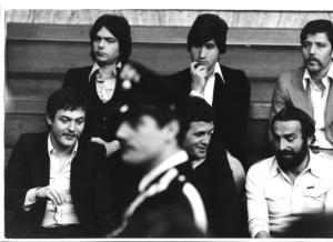 La banda Vallanzasca durante il processo