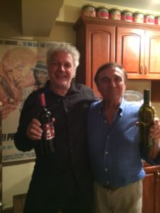 l'autore con Tony Lo Bianco (a destra)